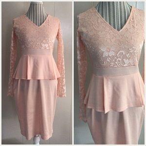 Dresses & Skirts - Pink peplum dress